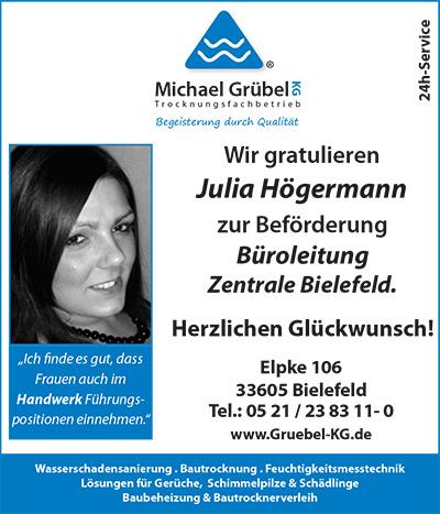 Glückwunsch Julia Högermann