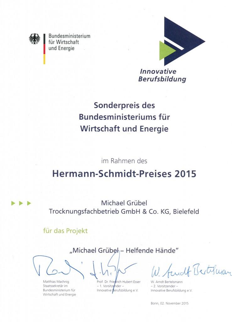 Auszeichnung Sonderpreis 2015