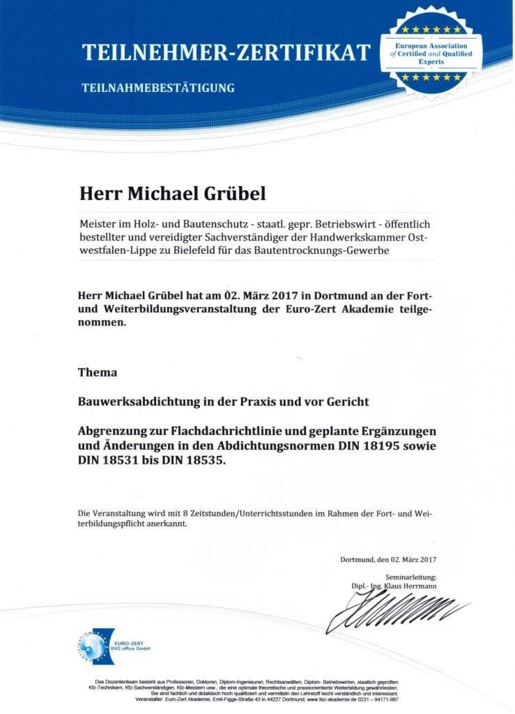 Fortbildungen 2013 – 2018 › Michael Grübel GmbH & Co. KG ...